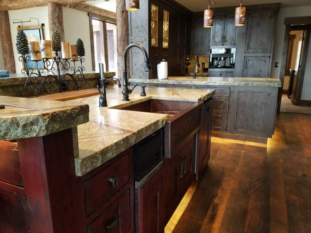 Sink Area Western Custom Classic Kitchen Interior Visions Crested Butte