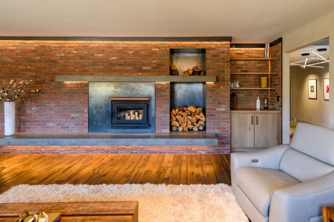 Industrial Mountain Chic Fireplace